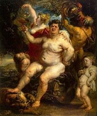 tablou rubens - bacchus (1638)