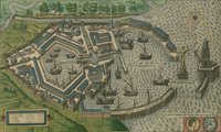 tablou Harta antica roman city of ostia, 1588