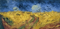 tablou vincent van gogh - wheatfield with crows