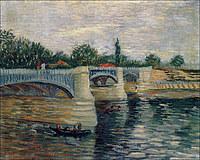 tablou van gogh - the seine with the pont de la grande jette, 1887
