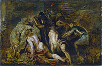 Tablou canvas rubens- arrest of samson (1606)