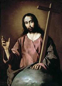 tablou francisco de zurbaran - christ the almighty (1638)