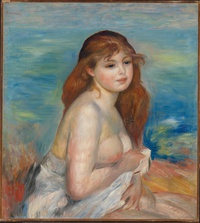 Tablou canvas renoir - etter badet, 1886