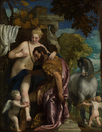 tablou paolo veronese - mars and venus united, 1570
