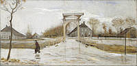 Tablou canvas van gogh - drawbridge in nieuw amsterdam, 1883