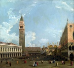 Tablou canaletto - the piazzetta from the molo