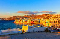 tablou apus de soare in creta, grecia (1)