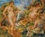 Tablou canvas Renoir - bathers, 1918