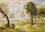 tablou renoir - landscape (after corot), 1897 98