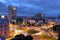 Tablou canvas noapte in bucuresti (2)
