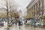 tablou eugene galien laloue - flower market la madeleine(2), paris