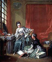 tablou francois boucher - modista (1746)