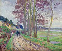 tablou paul madeline - road with poplars