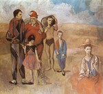 Tablou canvas picasso- family of saltimbanques [1905]