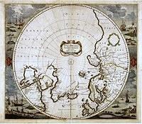 tablou harta veche polul nord (1)