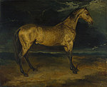 tablou jean louis andrc thcodore gcricault - a horse frightened by lightning