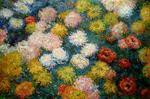 Tablou canvas claude monet   chrysanthemums 2, 1897
