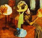 tablou 1884  edgar degas - chez la modiste