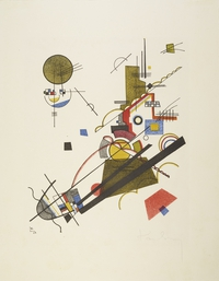 Tablou canvas kandinsky - joyous ascent, 1923
