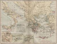 tablou harta antica grecia