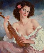 Tablou canvas nud illustration 11