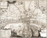 tablou harta antica rara ,paris,1180