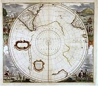 tablou harta veche polul sud (1)