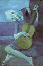 tablou picasso- the old guitarist [1903]