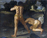 tablou francisco de zurbaran - cycle of hercules. hercules wins king geryon (1634)