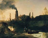 tablou carl blechen - mill in neustadt