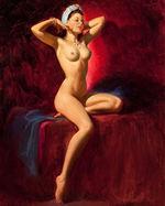 tablou nud, ilustratie (291)