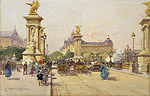 tablou eugene galien laloue - the pont alexandre iii and the grand palais, paris