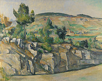 tablou paul cézanne - hillside in provence