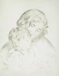 tablou renoir - mère et enfant (jean renoir), 1896