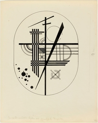 tablou kandinsky - drawing for point and line to plane, 1925