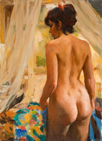 Tablou canvas nud illustration 12