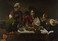 Tablou canvas michelangelo merisi da caravaggio - the supper at emmaus