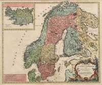 Tablou canvas Suedia, Norvegia, 1756