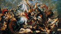 Tablou canvas rubens- history of decius musa 5. death of publius decius musa (1617)