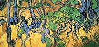 tablou van gogh - tree roots and trunks