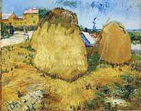 Tablou canvas van gogh - haystacks in provence, 1888