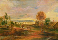 tablou rubens - evening landscape