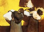Tablou canvas 1878  edgar degas - blanchisseuses portant du linge en ville