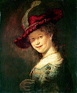 tablou rembrandt - portret of saskia van eulenburg (1633)