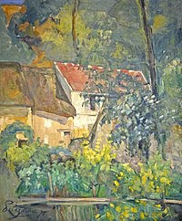 tablou paul cezanne - the house of pere lacroix in auvers, 1873