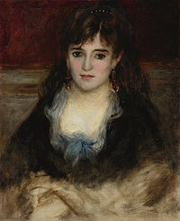 tablou pierre auguste renoir - portrait of nini, 1874