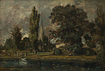 tablou john constable - salisbury cathedral and leadenhall from the river avon