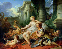 tablou francois boucher - rinaldo and armida (1734)