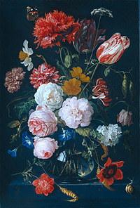 Tablou canvas flori, reproducere pictura (109), 1683