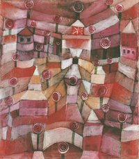 Tablou canvas paul klee   architecture, 1923
